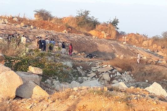 Gelatin blast kills 6 people near Chikkaballapur, Karnataka. (Image: Twitter/@dp_satish)
