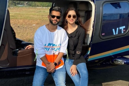 Rahul Vaidya Jets Off to Romantic Vacation with Girlfriend Disha Parmar on Chopper