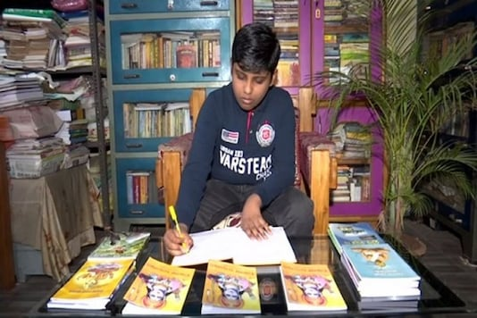 Ayush Kumar Khuntia has named the book by him as Pilak Ramayana, which means Ramayana for children in Odia. (Credit: ANI)