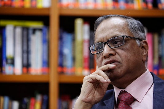 N. R. Narayana Murthy, founder and chairman of Infosys, listens to a question during an interview with Reuters at the company's office in Bangalore February 28, 2012. Picture taken on February 28, 2012. REUTERS/Vivek Prakash (REUTERS - Tags: BUSINESS SCIENCE TECHNOLOGY PROFILE HEADSHOT) - GM1E8450XYF01