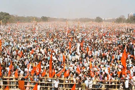 The  Left-Congress-ISF mega rally in Kolkata.