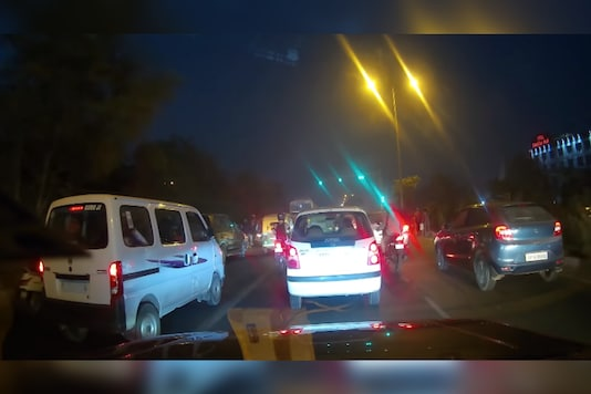 The dashcam footage. (Image source: YouTube/Ridiculously Amazing)