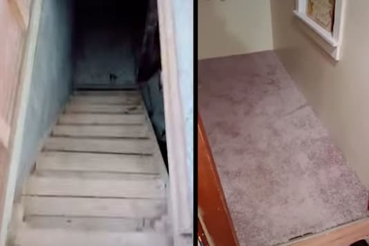 Woman finds creepy basement in her house.