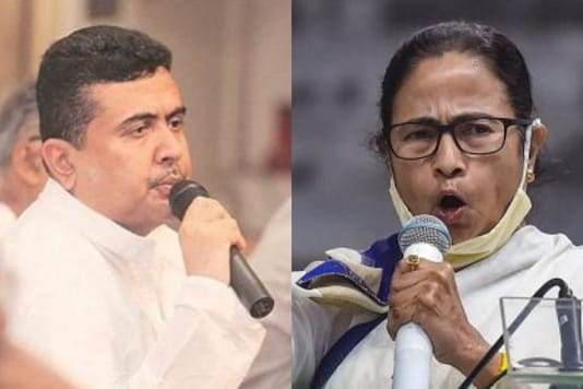 BJP's Suvendu Adhikari and CM Mamata Banerjee are locked in a high-profile contest in Nandigram.