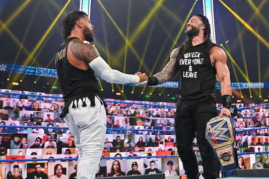 Jey Uso and Roman Reigns (Photo Credit: WWE)