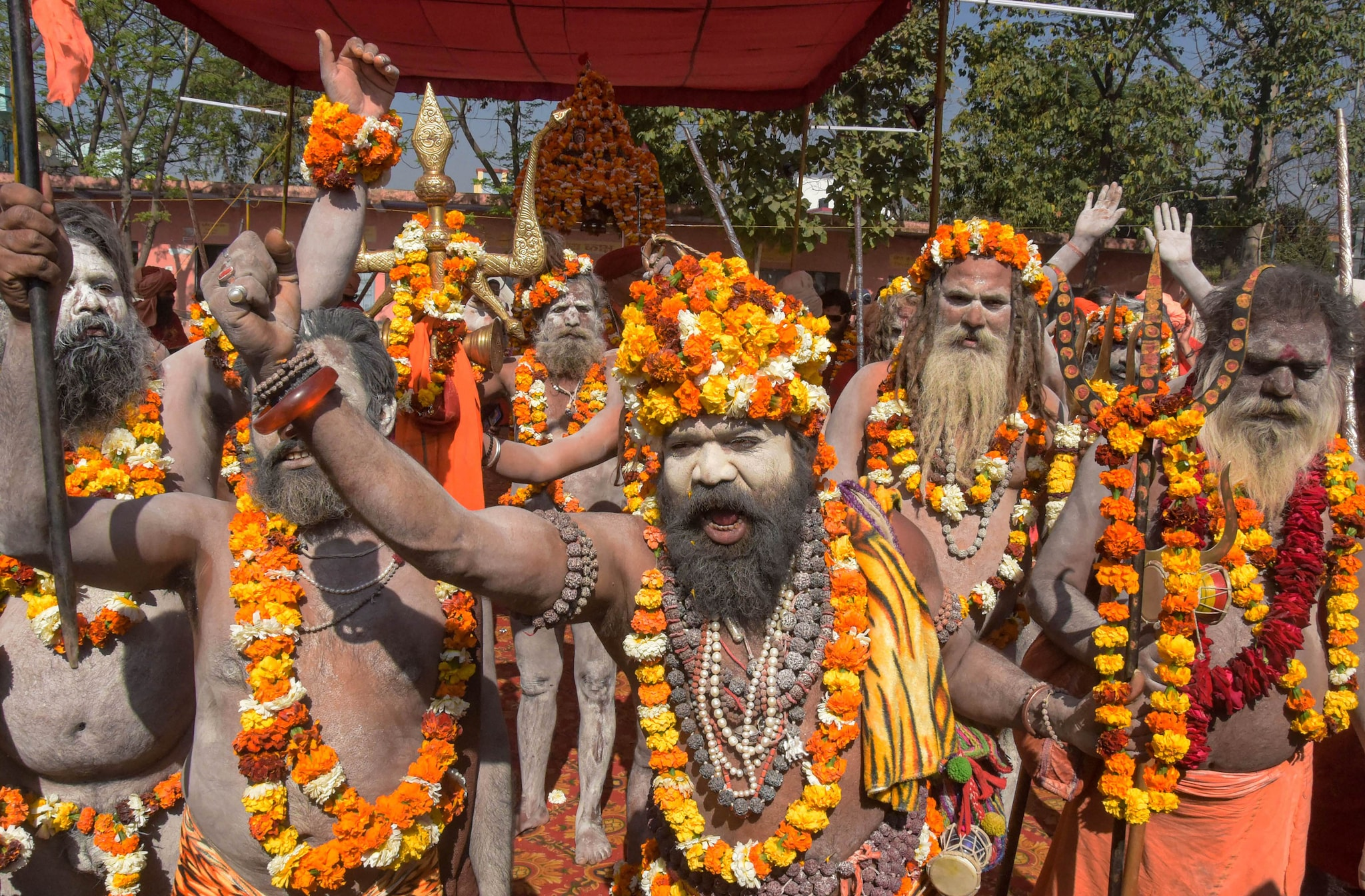 Sadhus Take Part In Procession In Haridwar Ahead Of Kumbh Mela 2021, See  Pics - Photogallery