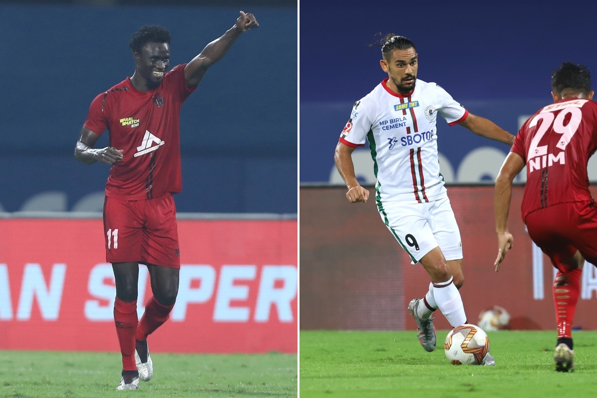 ISL 2020-21: NorthEast United FC Score Late to Hold ATK Mohun Bagan to Draw, In Pics