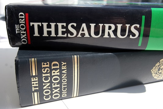 A generic picture of an English dictionary and a thesaurus. (Credit: REUTERS)
