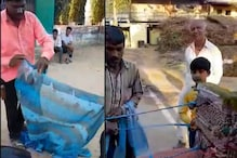 Best 'Jugaad Ever? Viral Video Shows Men Turning Saree Into Rope, Netizens Applaud Innovation