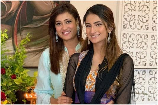 Shweta Tiwari with daughter Palak.