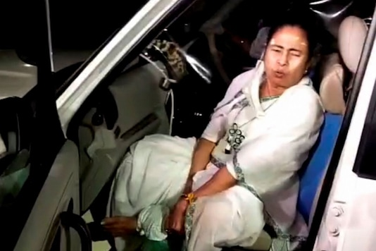 CM Mamata Banerjee after the incident in Nandigram. (PTI Photo)