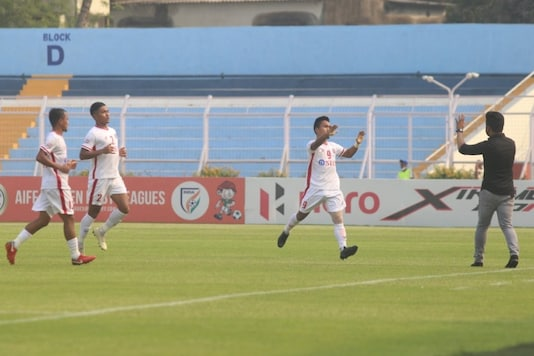 Aizawl FC beat Neroca FC in the second phase of the I-League 2020-21. (Photo Credit: I-League Twitter)