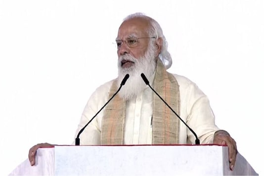 Prime Minister Narendra Modi addresses a gathering in Ahmedabad (YouTube/PMO India)