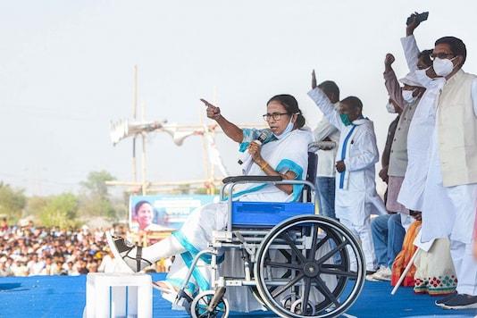 File pic of TMC supremo Mamata Banerjee at a rally. (PTI Photo)