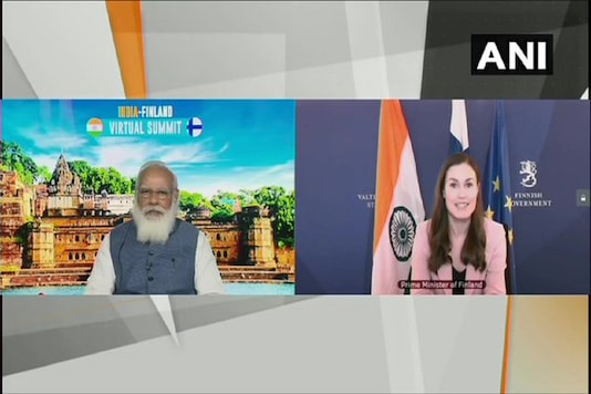 Prime Minister Narendra Modi holds a virtual summit with Finland Prime Minister Sanna Marin.
