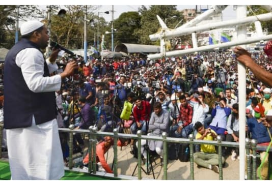File photo of Abbas Siddiqui during a public address. (PTI)