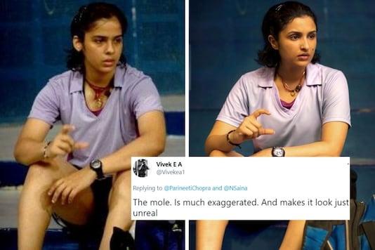 Internet users reacted to a comparison photo Parineeti Chopra posted of her and Saina Nehwal on social media.  (Credit: Parineeti Chopra/Twitter)