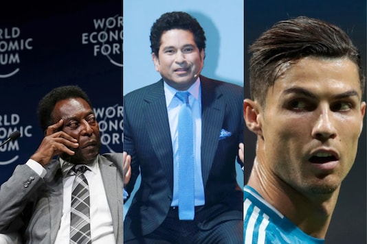Pele, Sachin Tendulkar and Cristiano Ronaldo (Photo Credit: AP)