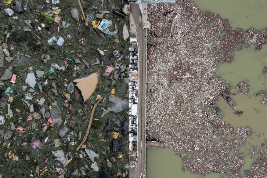 10 Drone Shots of Polluted Rivers Around World Show How We