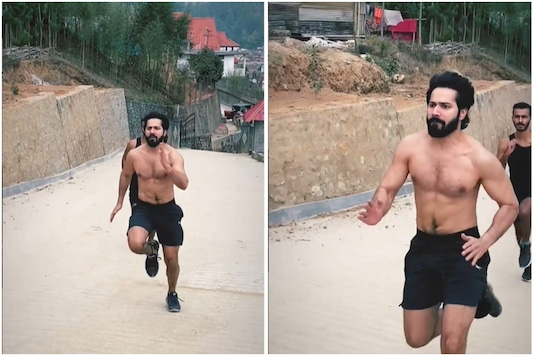 Varun Dhawan Impresses Netizens by Running Up a Slope in Arunachal Pradesh, Flaunts Toned Body