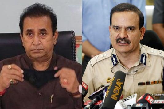 File photos of Home Minister Anil Deshmukh and ex-Police Commissioner Param Bir Singh.