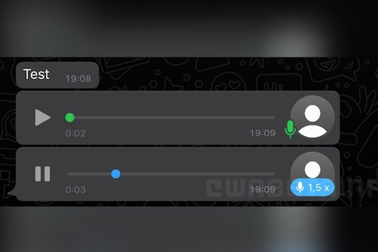 WhatsApp voice notes speed (Image: Twitter / @WABetaInfo)