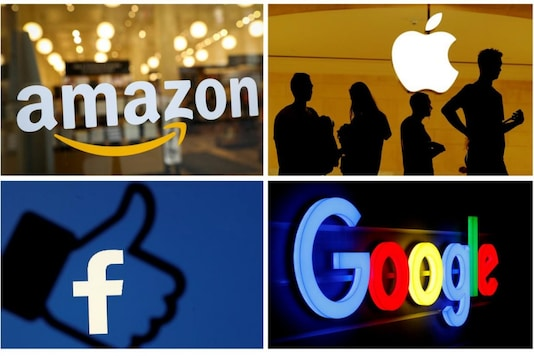 The logos of Amazon, Apple, Facebook and Google used for representation. (Image: Reuters)