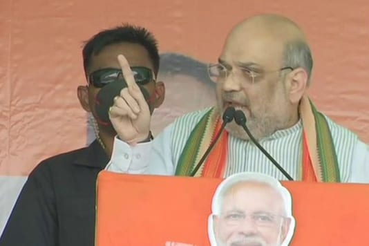 Amit Shah during a speech in Bengal
