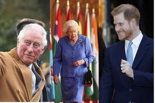 Prince Charles/Queen Elizabeth/Prince Harry. Credits: AP.