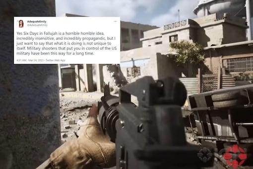 Video grab of video game, Six Days in Fallujah. (Credit: YouTube)