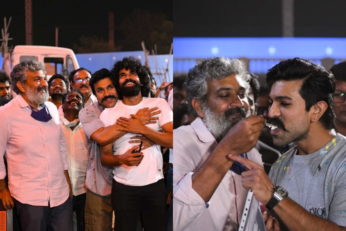 Ram Charan Celebrates 36th Birthday on RRR Sets with SS Rajamouli, See Pics and Video - News18