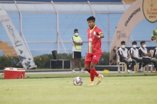 Bidyashagar Singh won the Golden Boot and Hero of the League award. (Photo Credit: I-League)