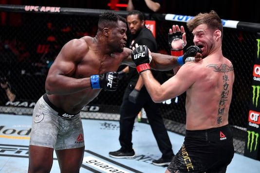 UFC 260: Francis Ngannou and Stipe Miocic (Photo Credit: Twitter)