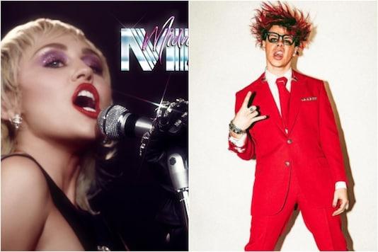 Miley Cyrus (L), YungBlud