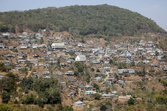 A view of a border village in Champhai district of Mizoram, near the India-Myanmar border. (Image: Reuters)