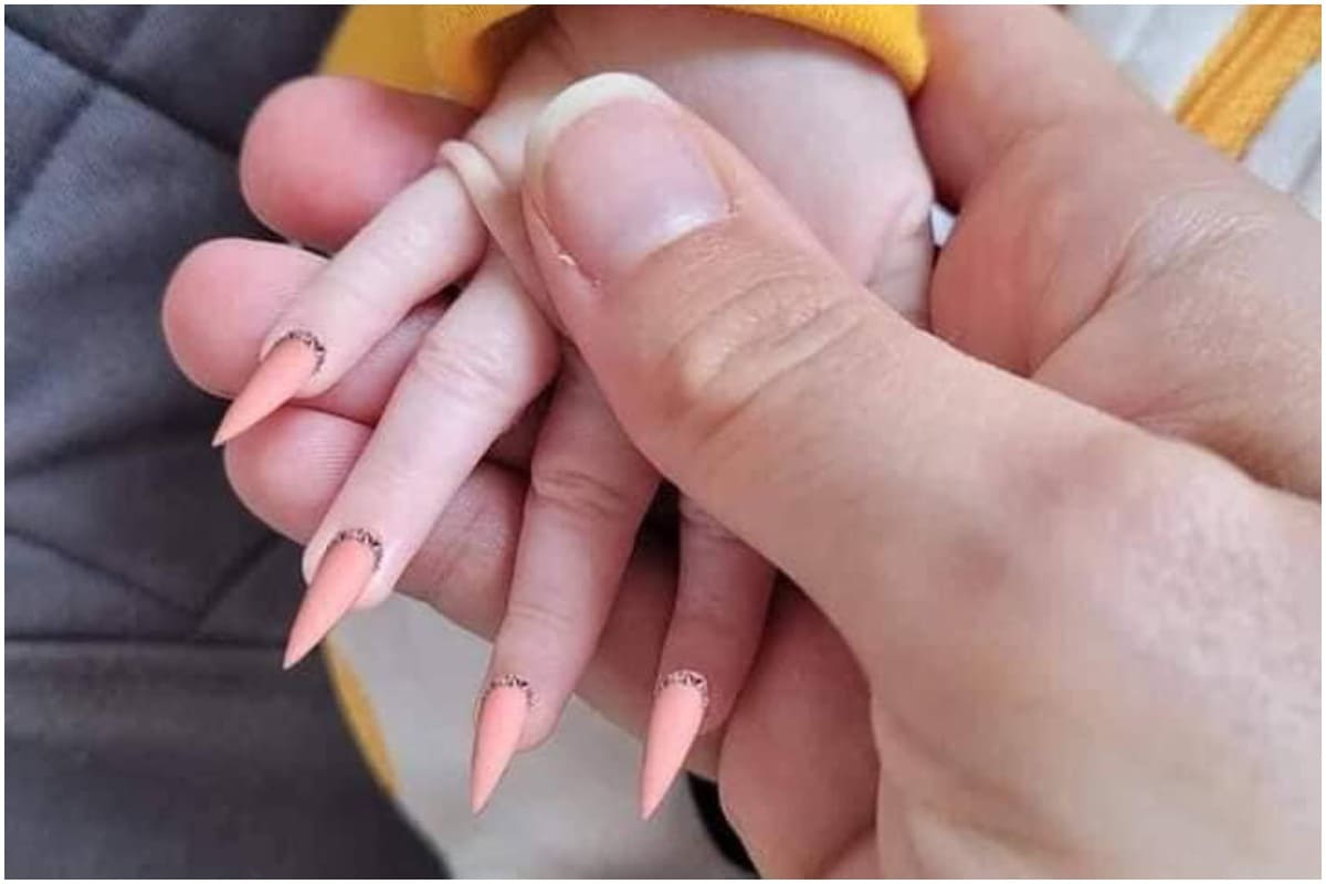 Viral Photo of Baby with Fake Nails Causes Outrage, Netizens Slam ...