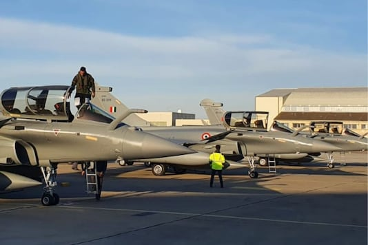 The fourth batch of Rafales landed on Indian soil. (Indian Air Force/Twitter)