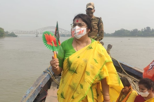 BJP's Locket Chatterjee in a file photo.
