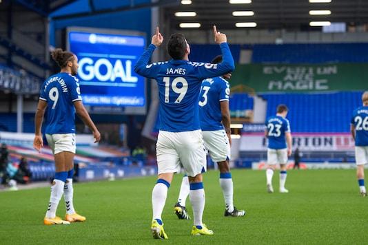 Everton's James Rodriguez (Photo Credit: Twitter)