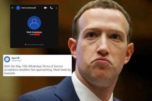 Mark Zuckerberg uses the signal