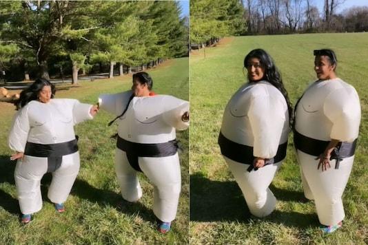 Video grab of Niharika dancing with her friend.  (Credit: Instagram)