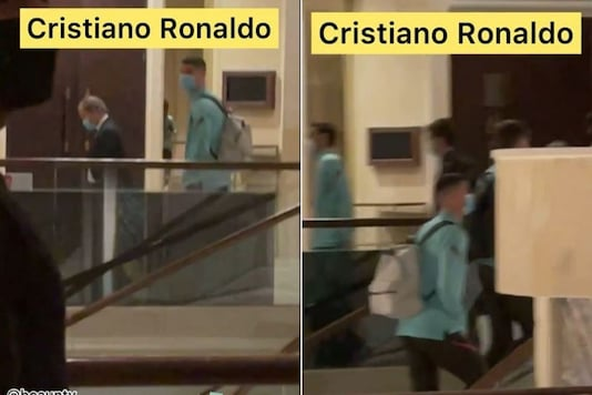 Video grab of Cristiano Ronaldo at a hotel in Europe. (Credit: Instagram)
