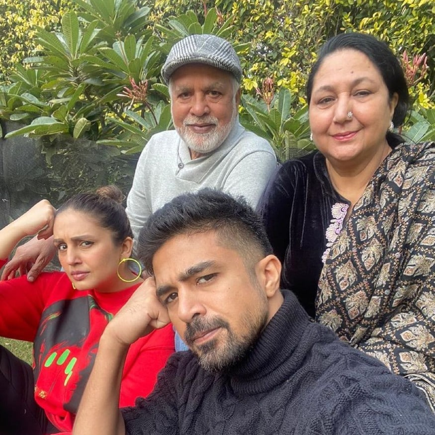Born to Saleem Qureshi and Ameena Qureshi, the brother-sister duo come from a non-filmy background. While their parents continue to live in Delhi, Saqib and Huma live together in Mumbai.(Image: Instagram)