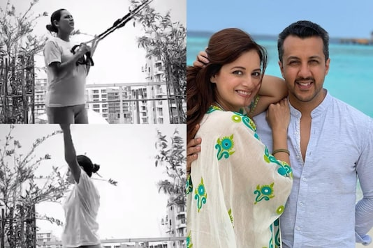 Pregnant Dia Mirza Sweats It Out at Home As She Turns Terrace into Gym, See Video