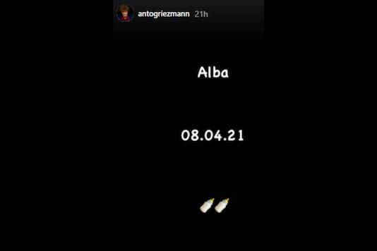 Antoine Griezmann announced the birth of his third child.