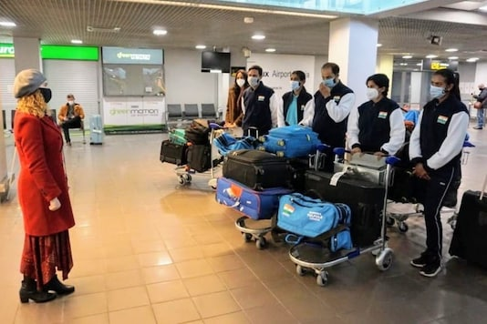 Indian women's tennis team reaches Latvia. (Photo Credit: IANS)