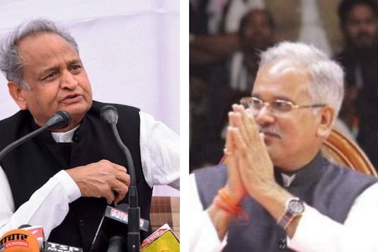 File image of Ashok Gehlot and Bhupesh Baghel.