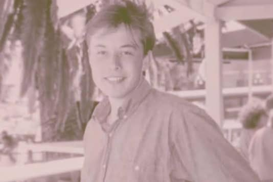 An old picture of Elon Musk. (Credit: Twitter)