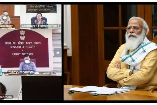 PM Modi at the virtual meet.