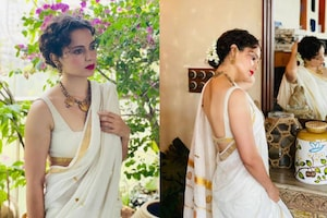 Kangana Ranaut Is Mesmerising In White Saree, See The Actress Looking Gorgeous in White